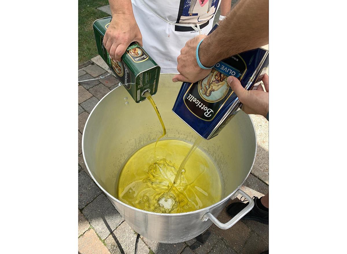 homemade sauce olive oil