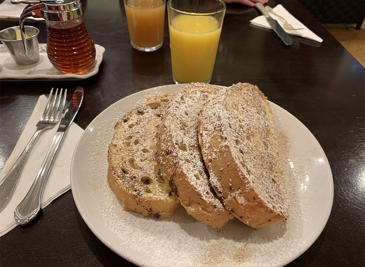 french toast from honey bs eatery michigan