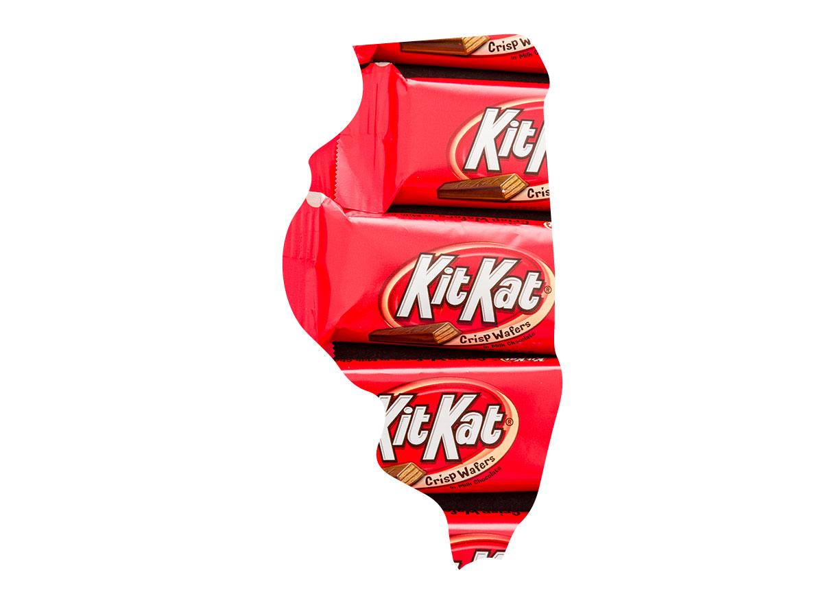 Illinois' favorite candy bar is Kit Kat