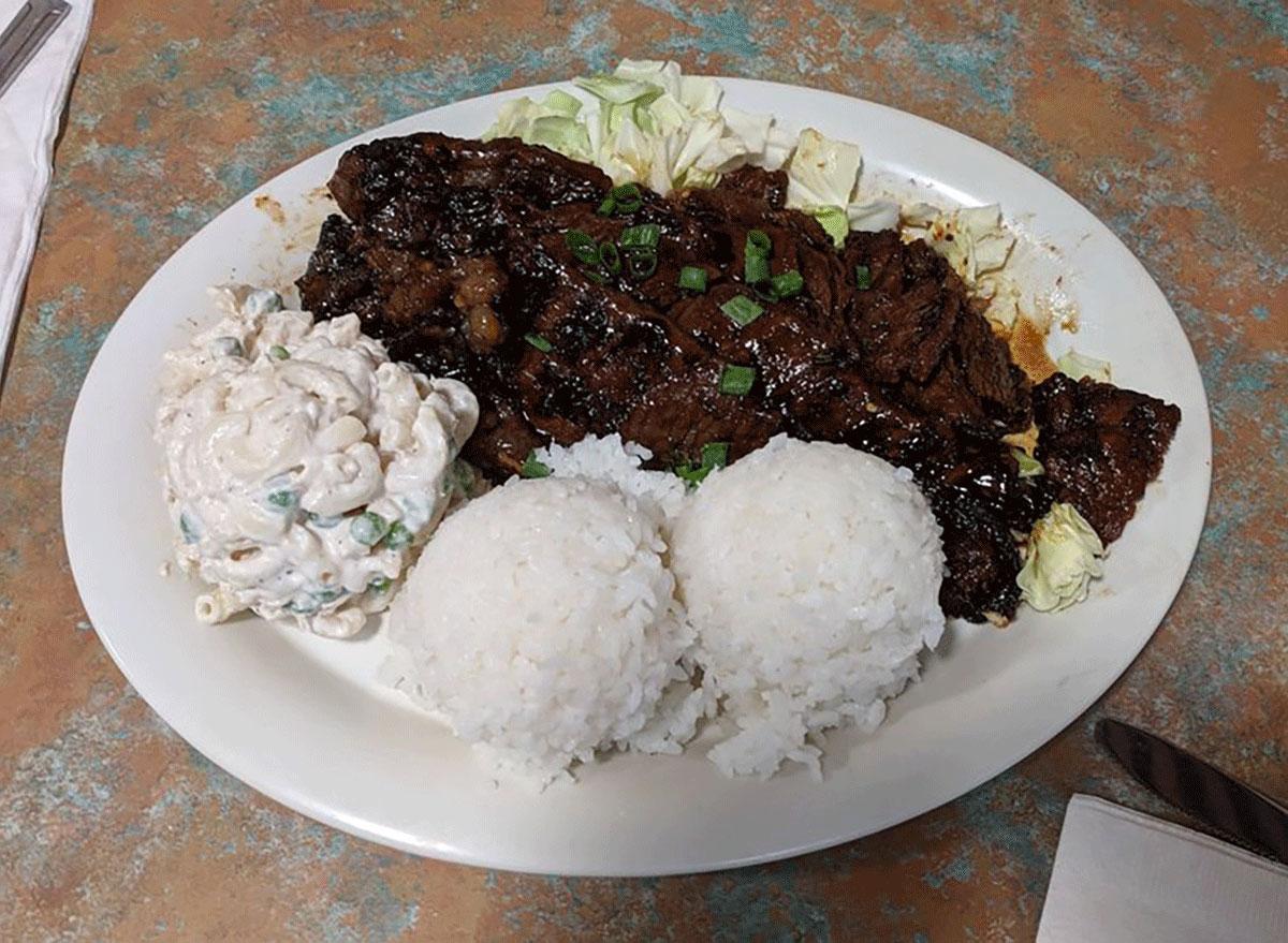 Kalibi ribs from hawaiian style cafe