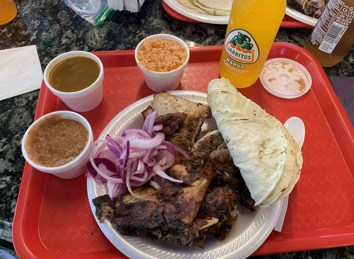 kansas el pollo rey chicken plate