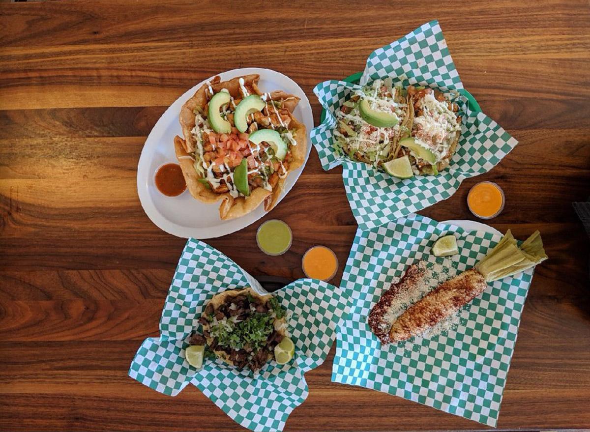 kentucky taco choza taco and corn spread