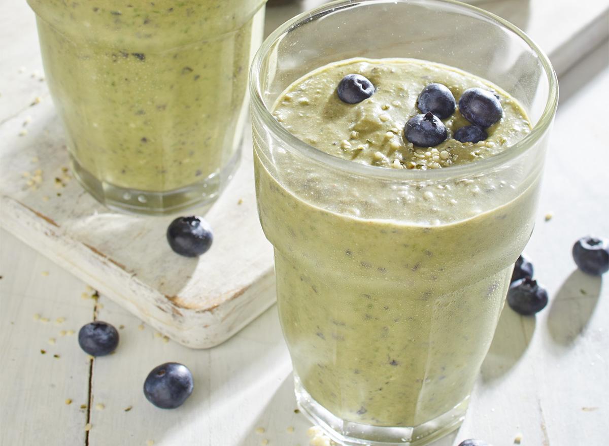 keto avocado blueberry hemp seed shake