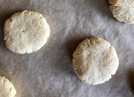 keto cream cheese cookies on parchment paper
