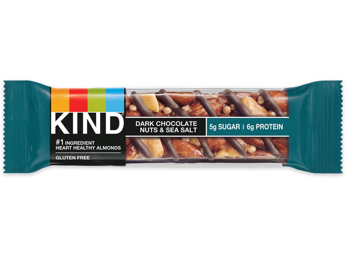 kind bar dark chocolate nuts sea salt in packaging