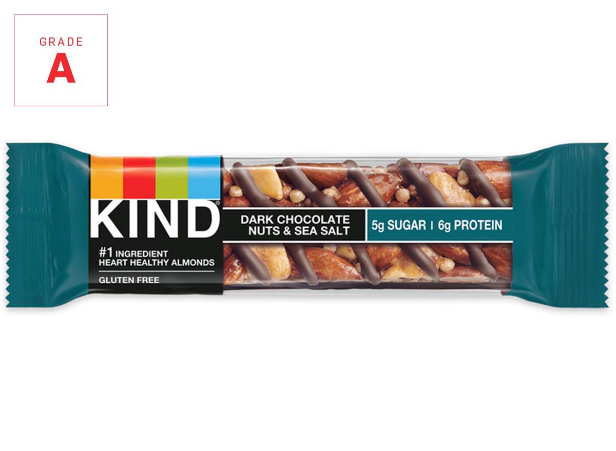 Kind energy bar dark chocolate graded