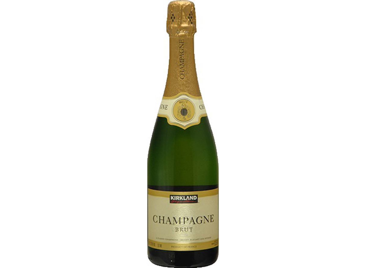 kirkland brut champagne in bottle