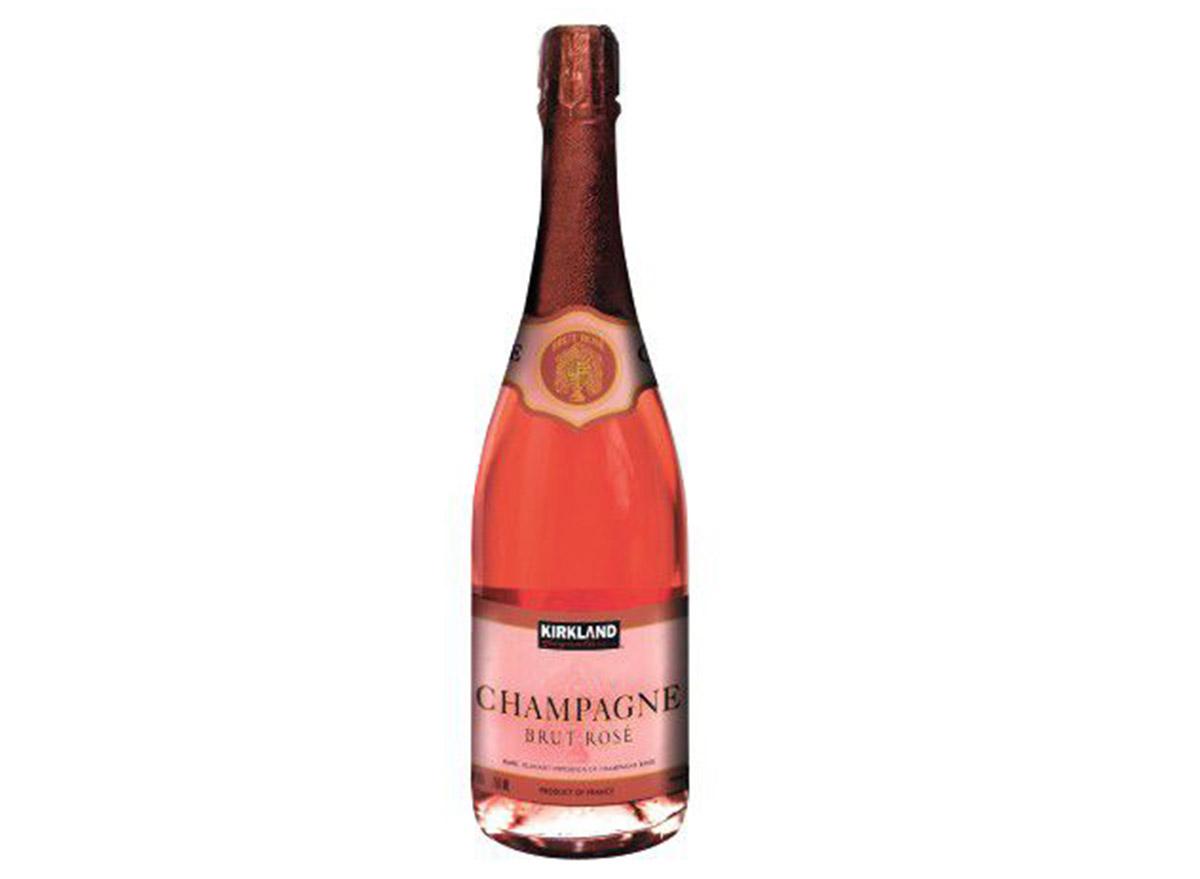 kirkland brut rose in bottle