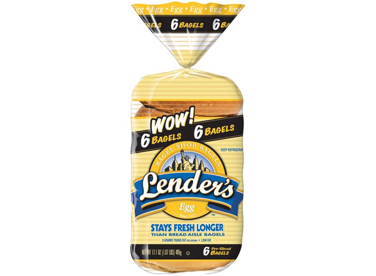 lenders egg bagels in packaging