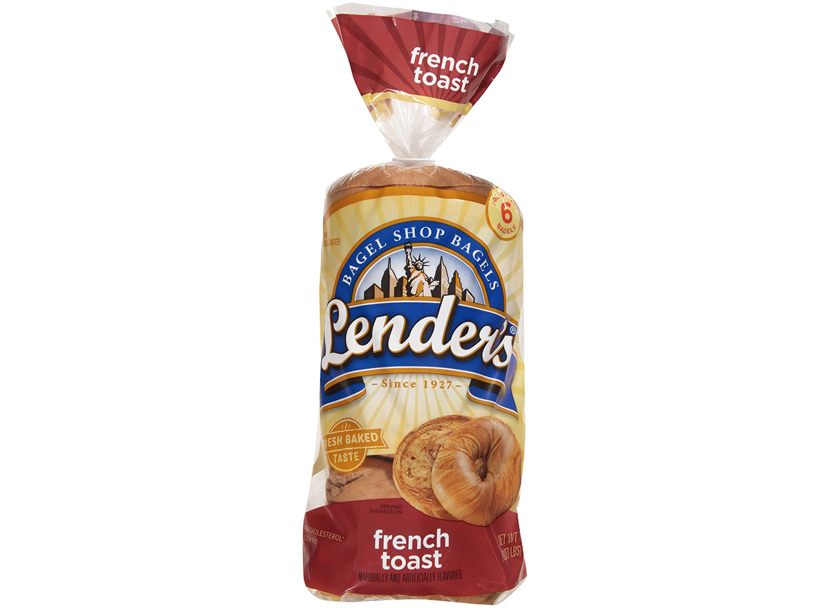 lenders french toast bagels in packaging