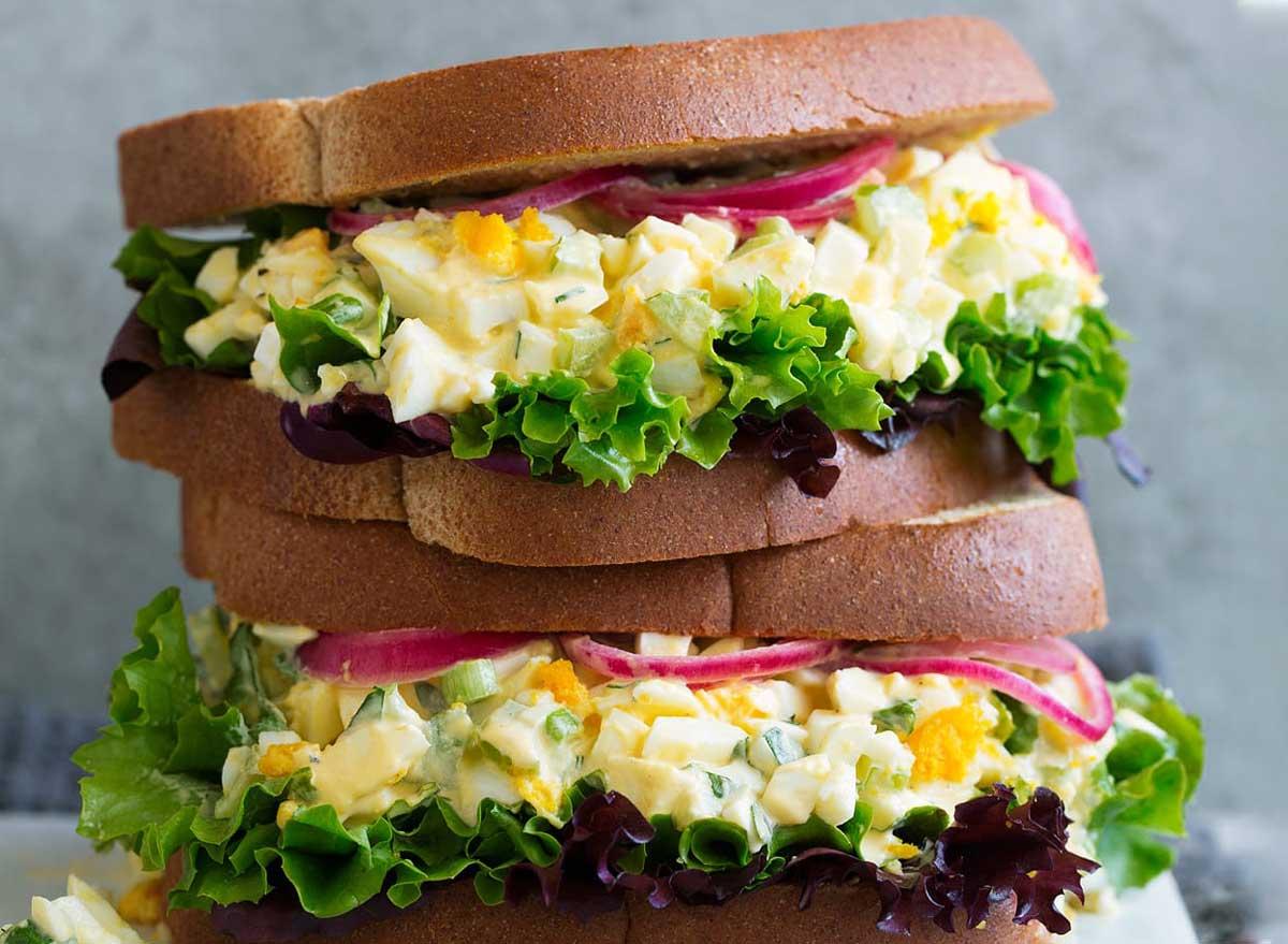 Light egg salad