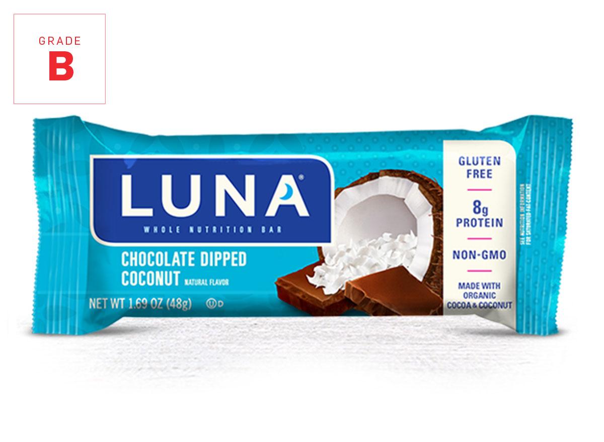 Luna Bar chocolate coconut graded