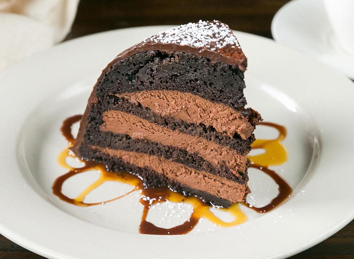 Maggiano's Chocolate Zuccotto cake slice