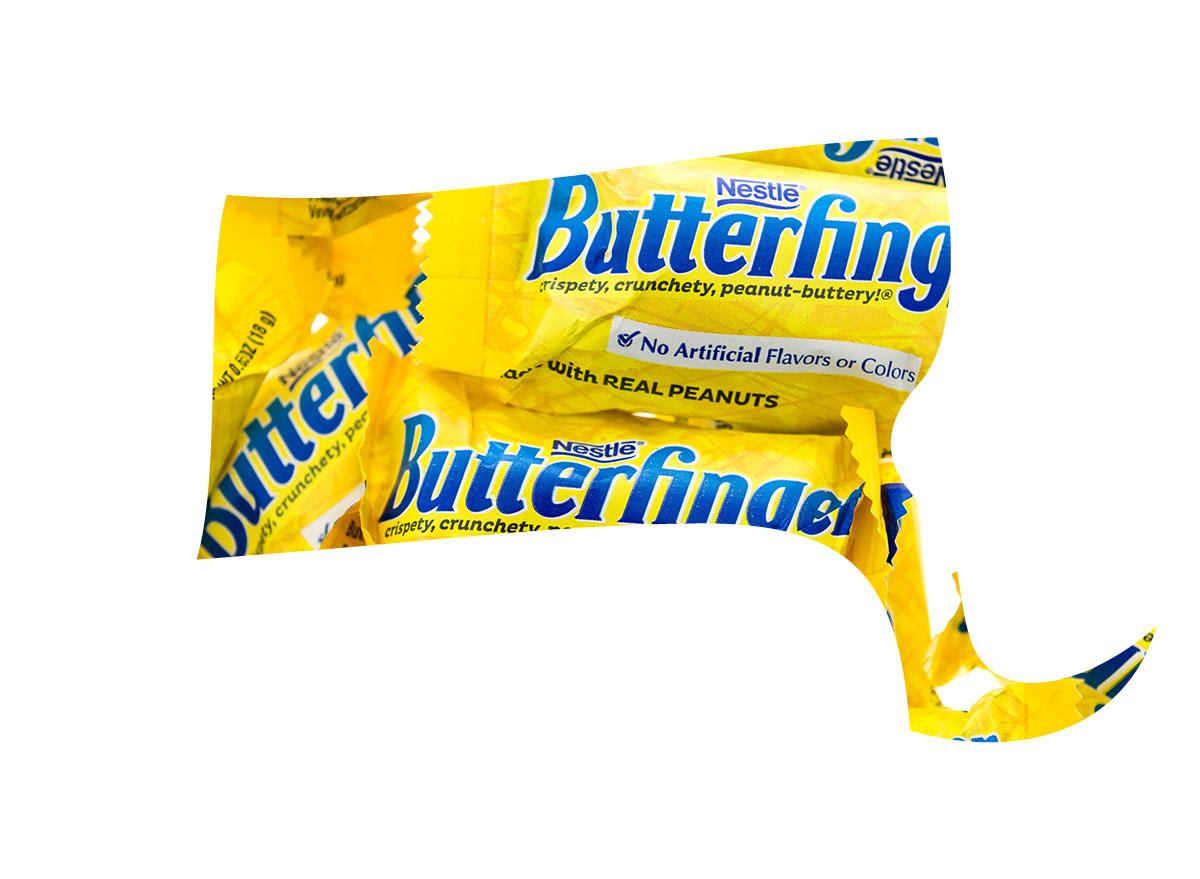 Massachusett's favorite candy bar is Butterfinger