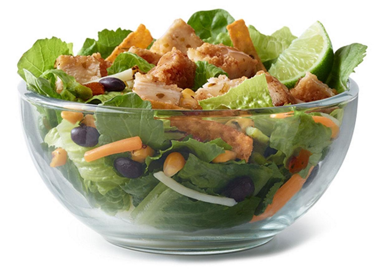 mcdonalds southwest buttermilk crispy chicken salad