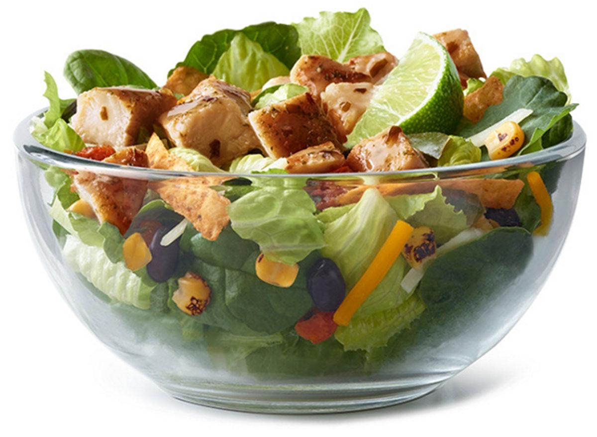 mcdonalds southwest grilled chicken salad with cilantro lime glaze