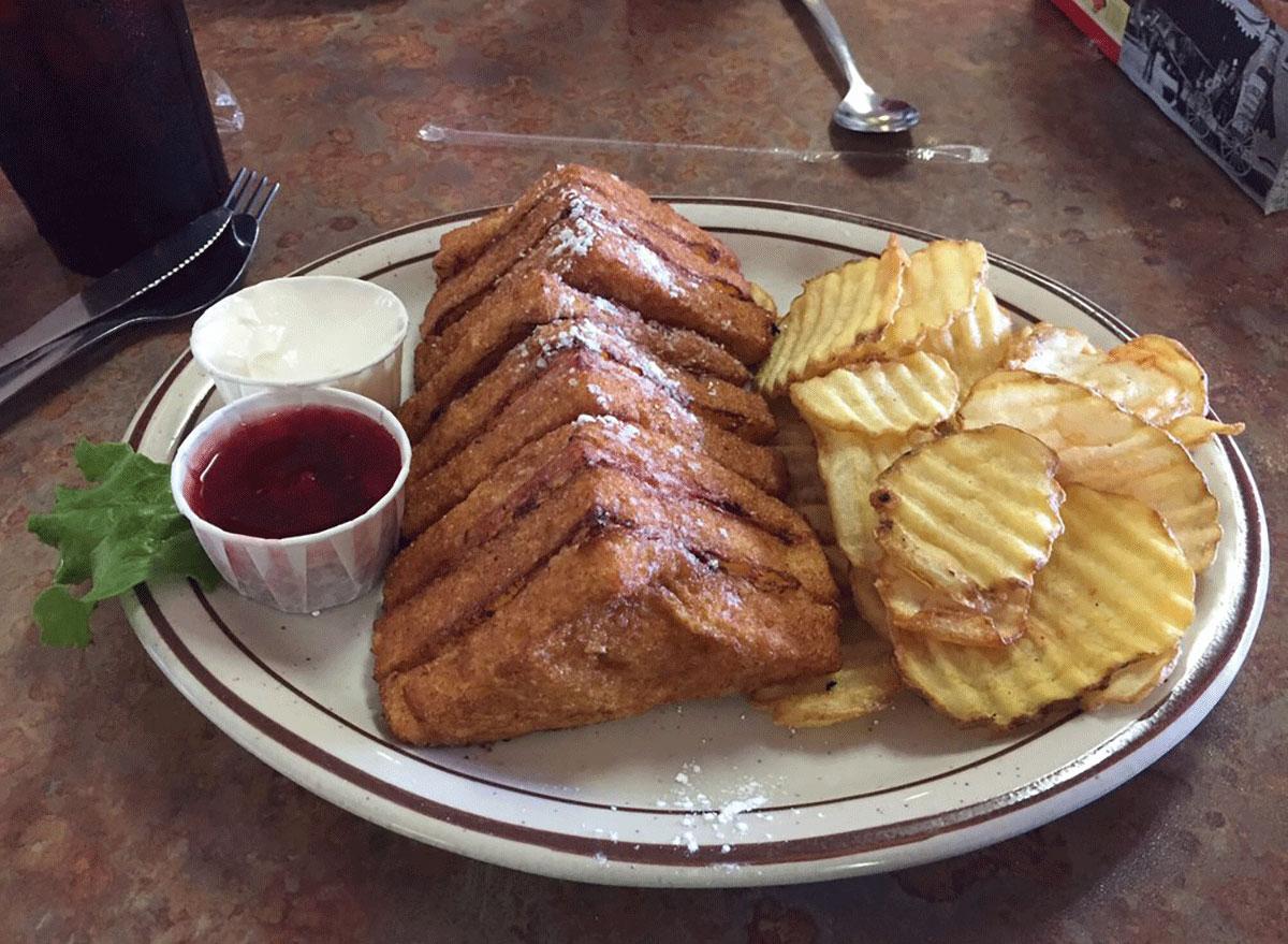 Monte cristo sandwich at El Bambi Cafe