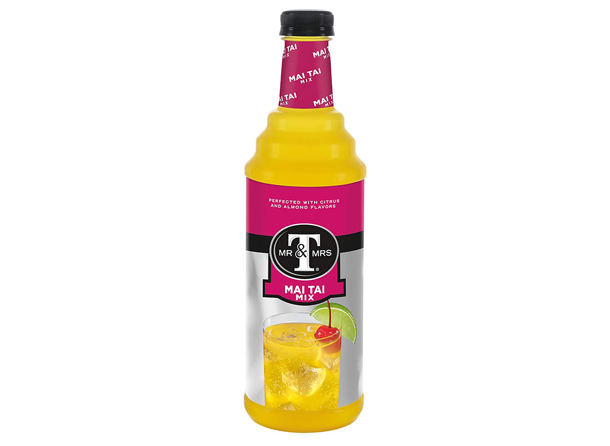 Mr. and Mrs. T's Mai Tai Mix in bottle