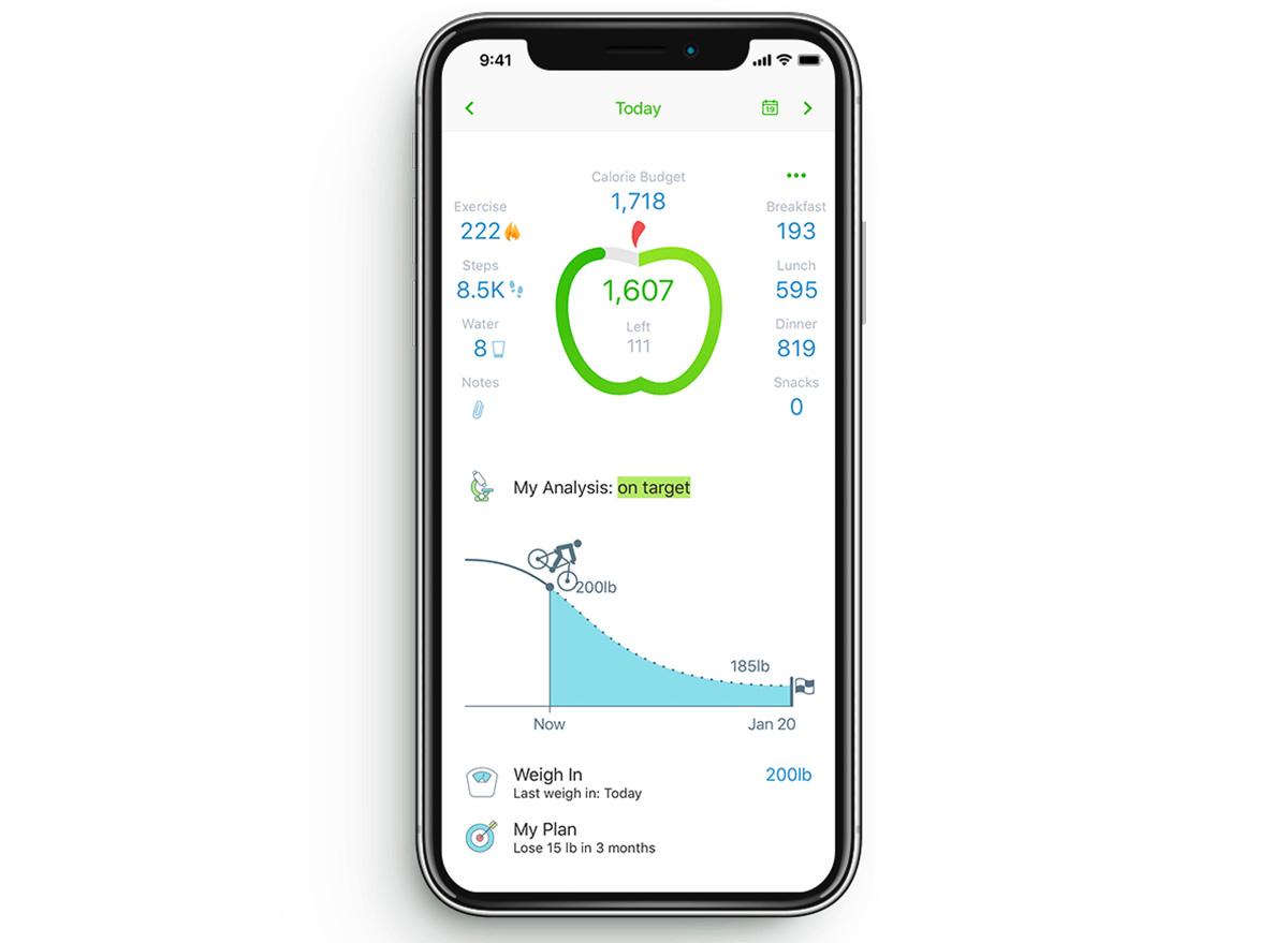 my net diary app on iphone screenshot
