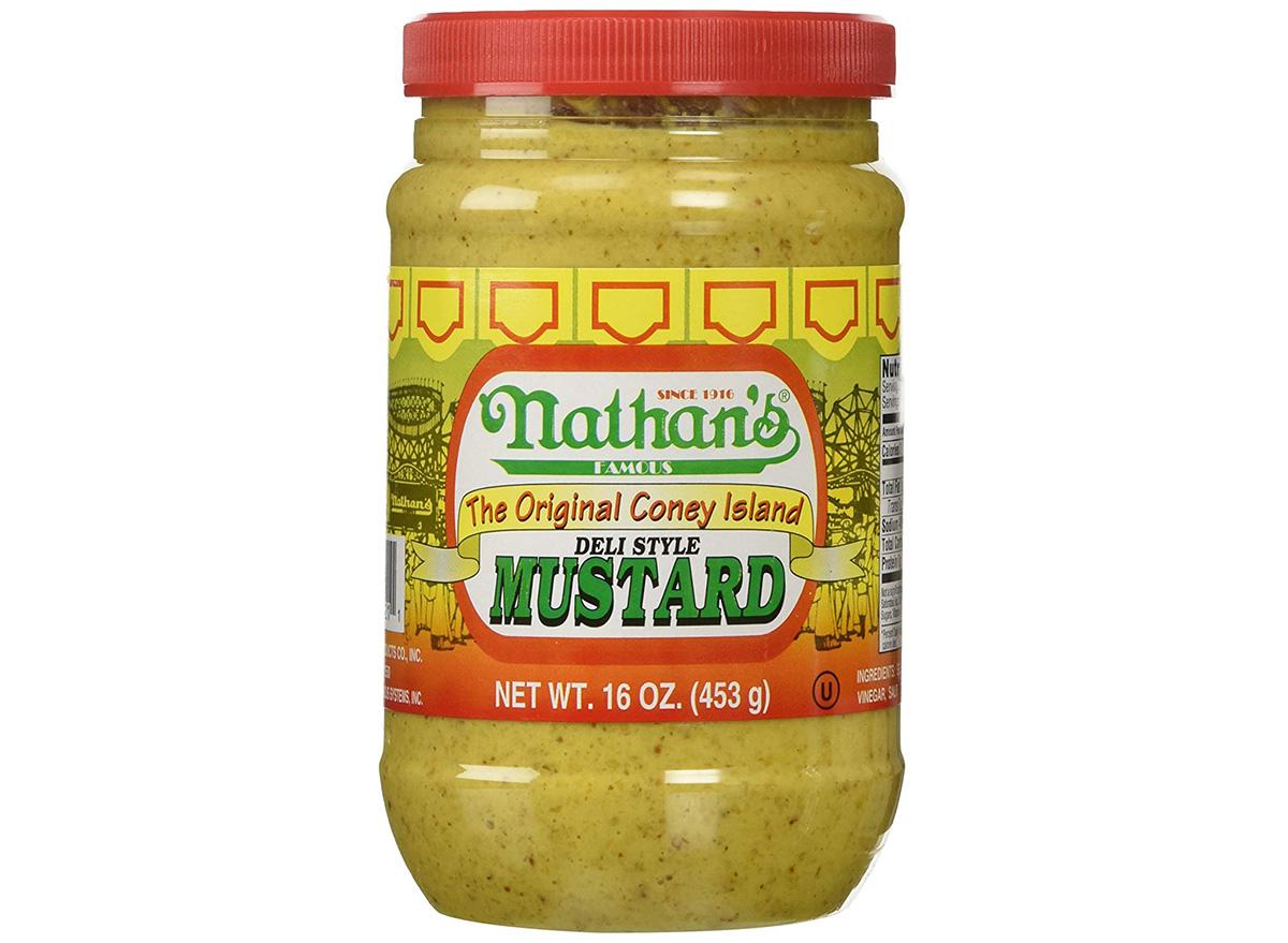 nathans original deli style mustard in jar
