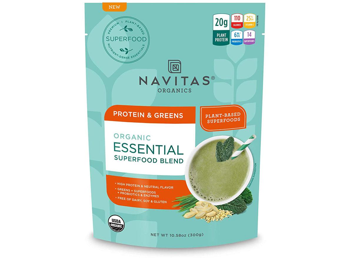 Navitas organics organic essential superfood blend protein and greens protein powder bag