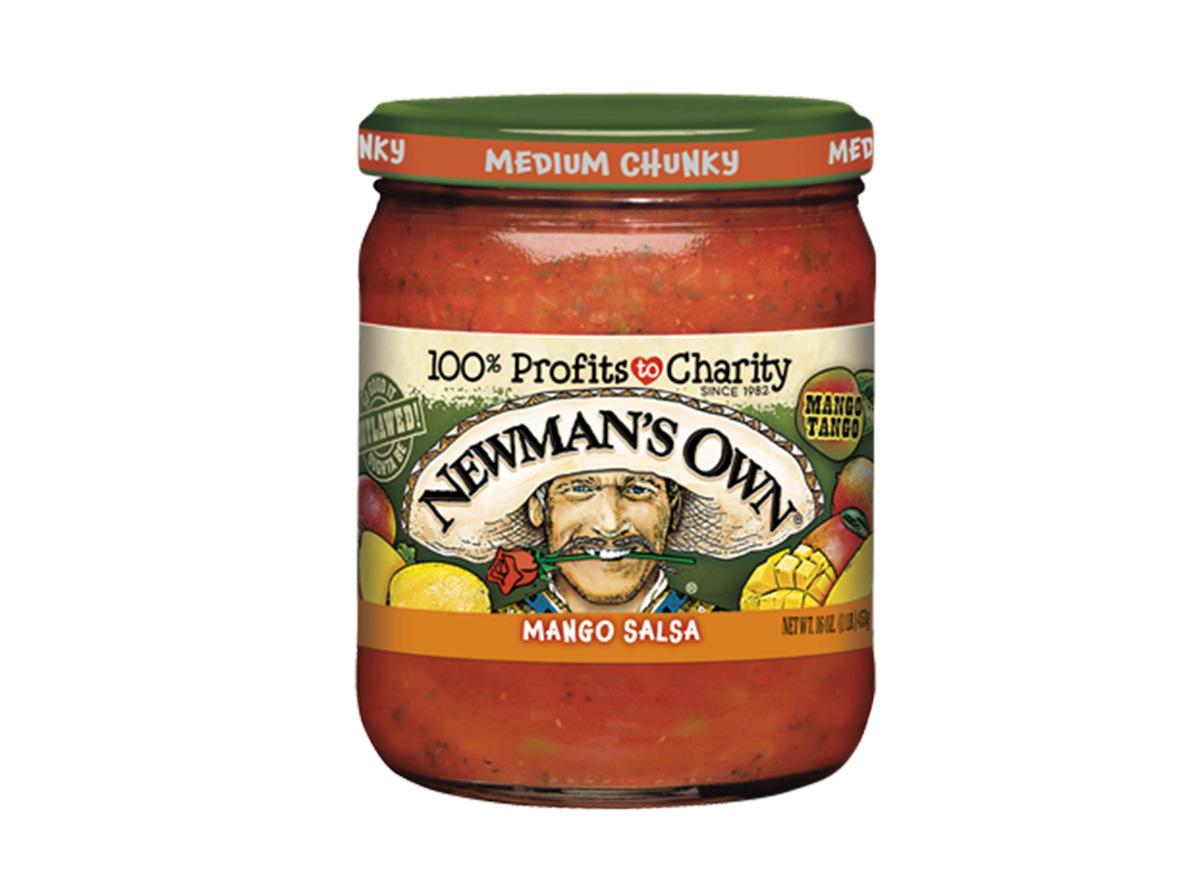 newmans own mango salsa in jar