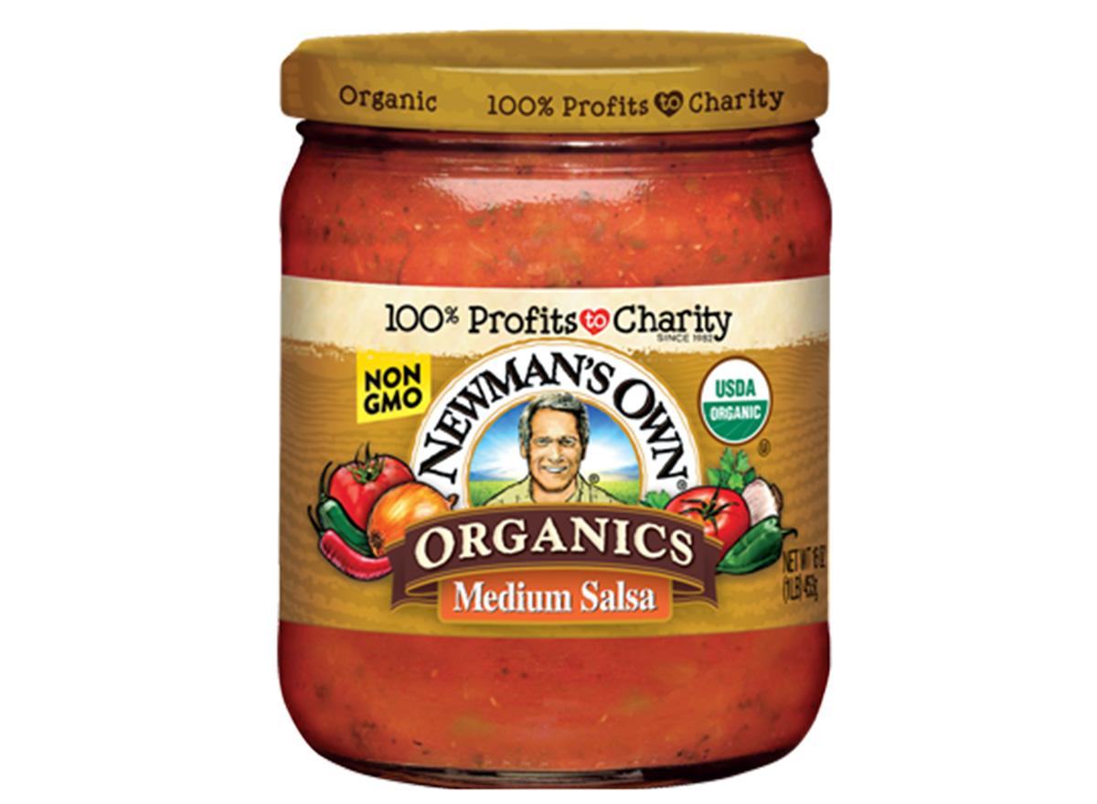newmans own medium salsa in jar