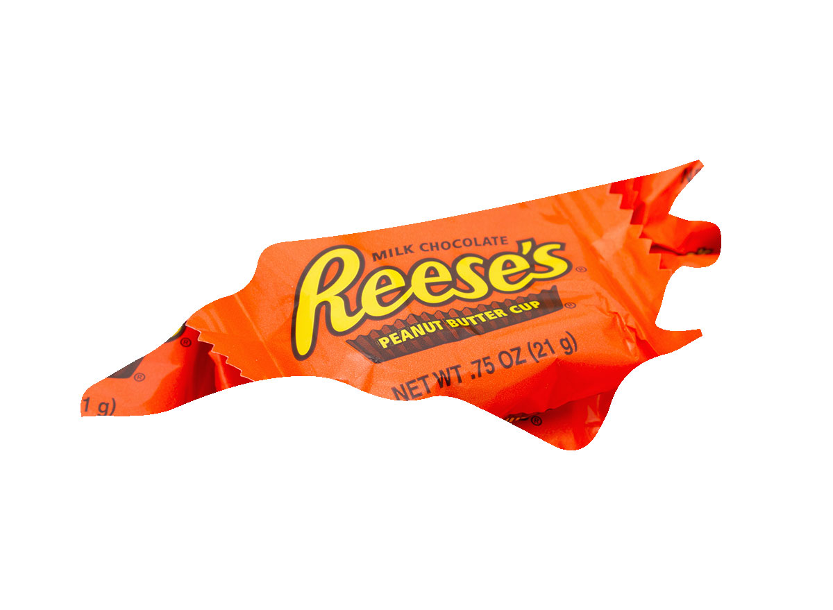 North Carolina's favorite candy bar is Reese's Cups