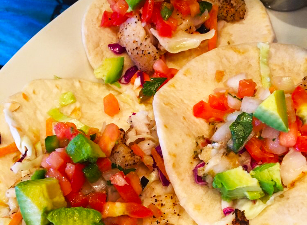 three on the border grilled fish tacos del mar