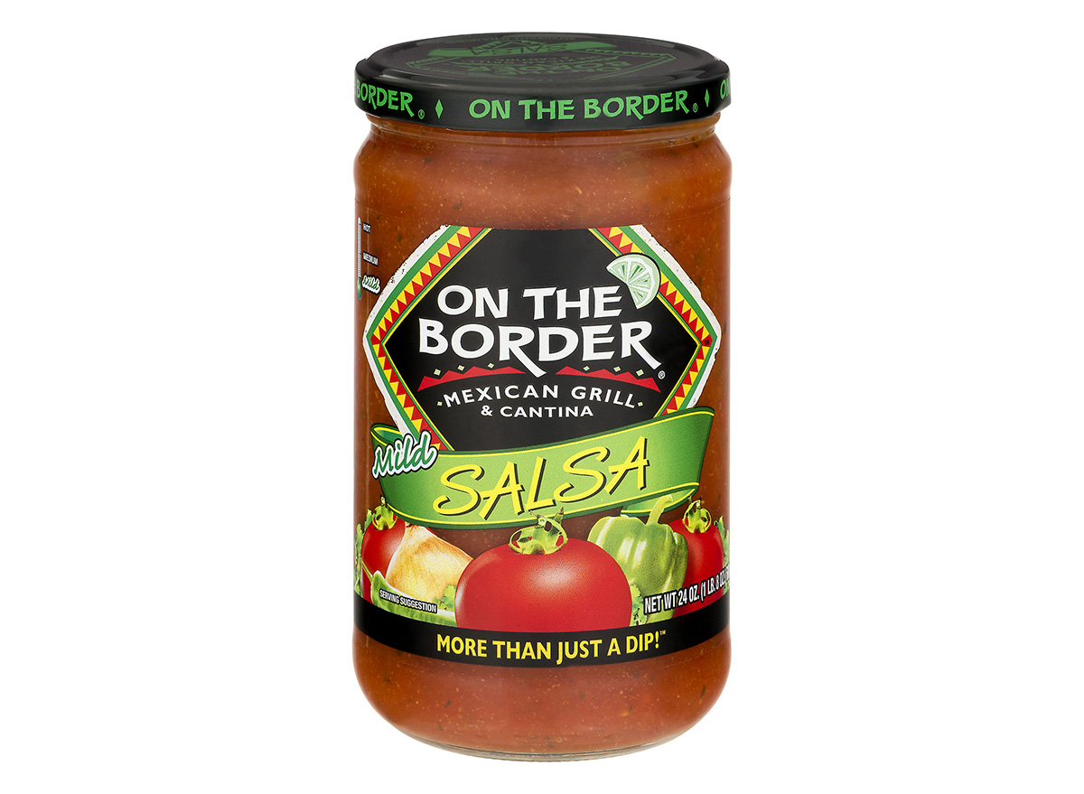 on the border mild salsa in jar