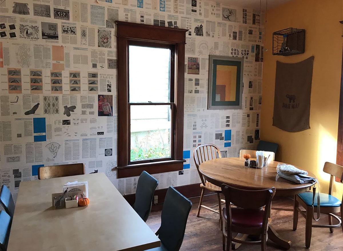 oscars cafe interior arkansas