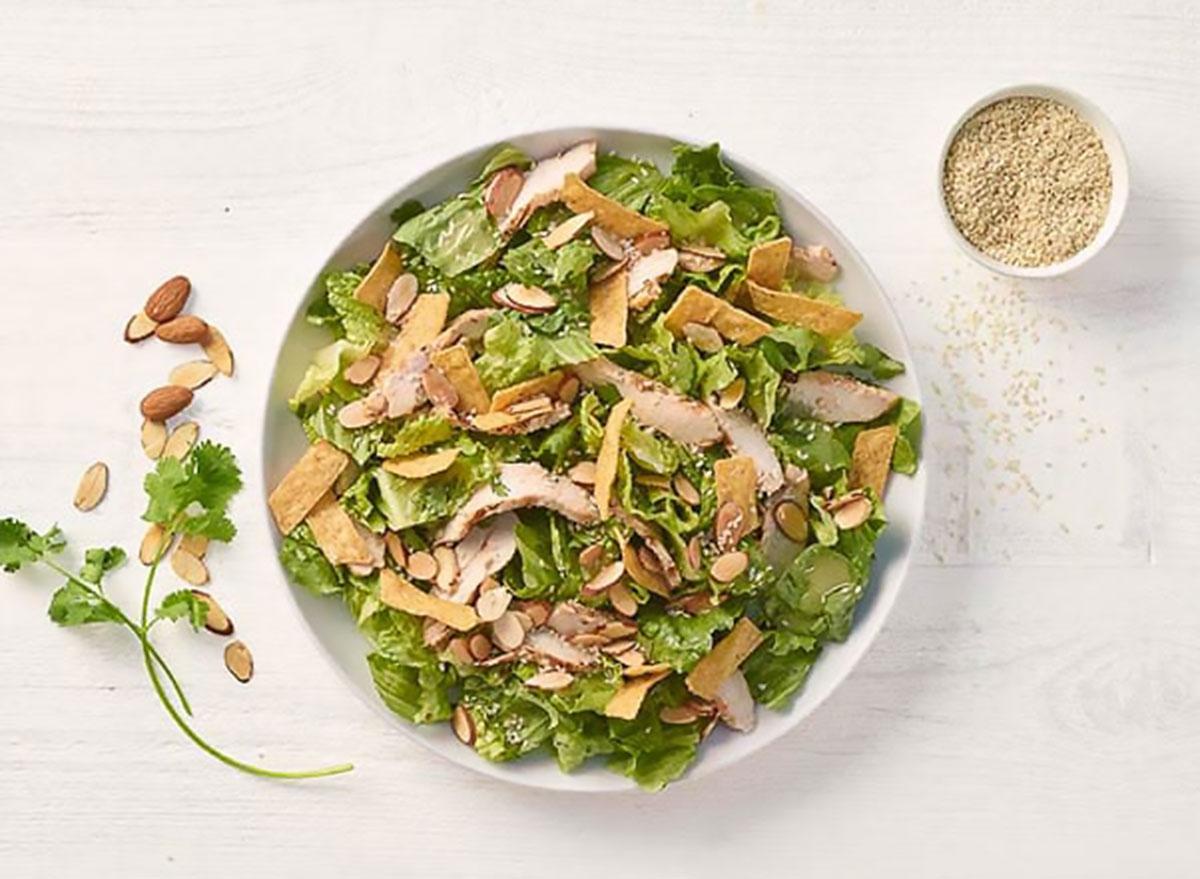 panera full asian sesame chicken salad with asian sesame vinaigrette