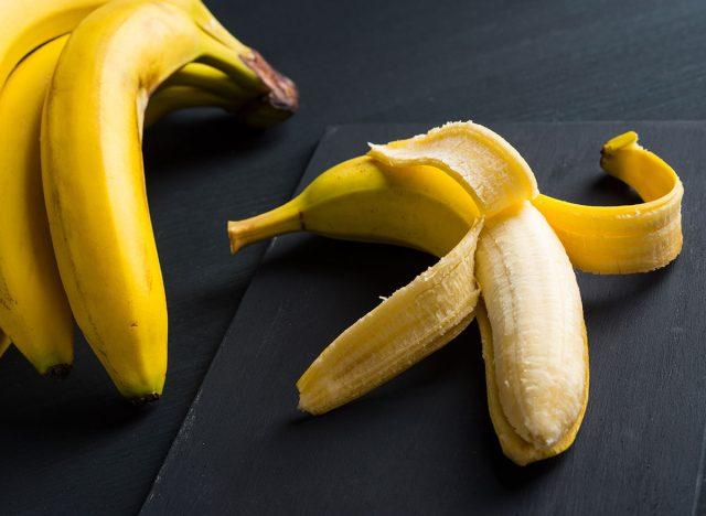 Peeling a banana from the bottom