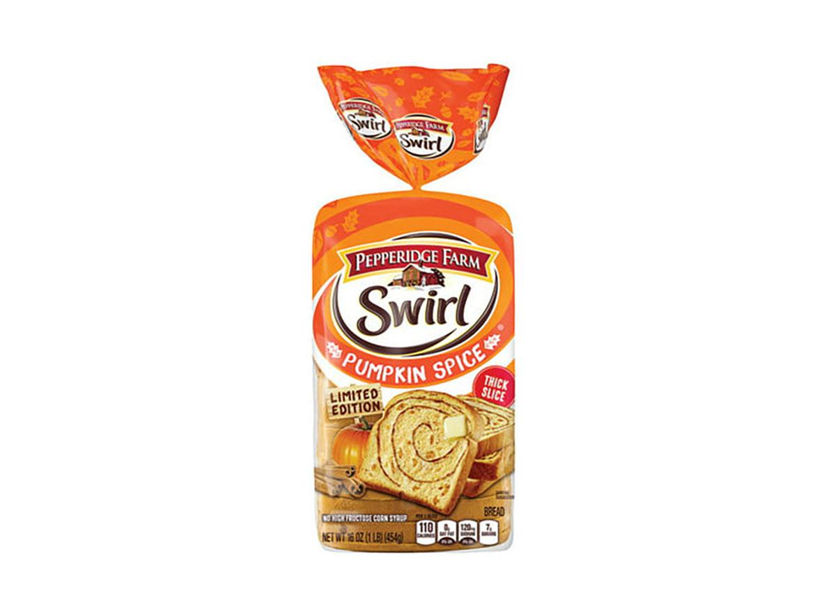 pepperidge farm pumpkin swirl bread