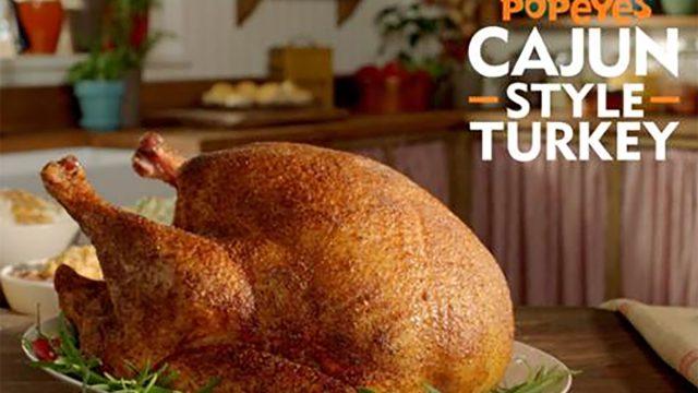 popeyes thanksgiving turkey cajun style