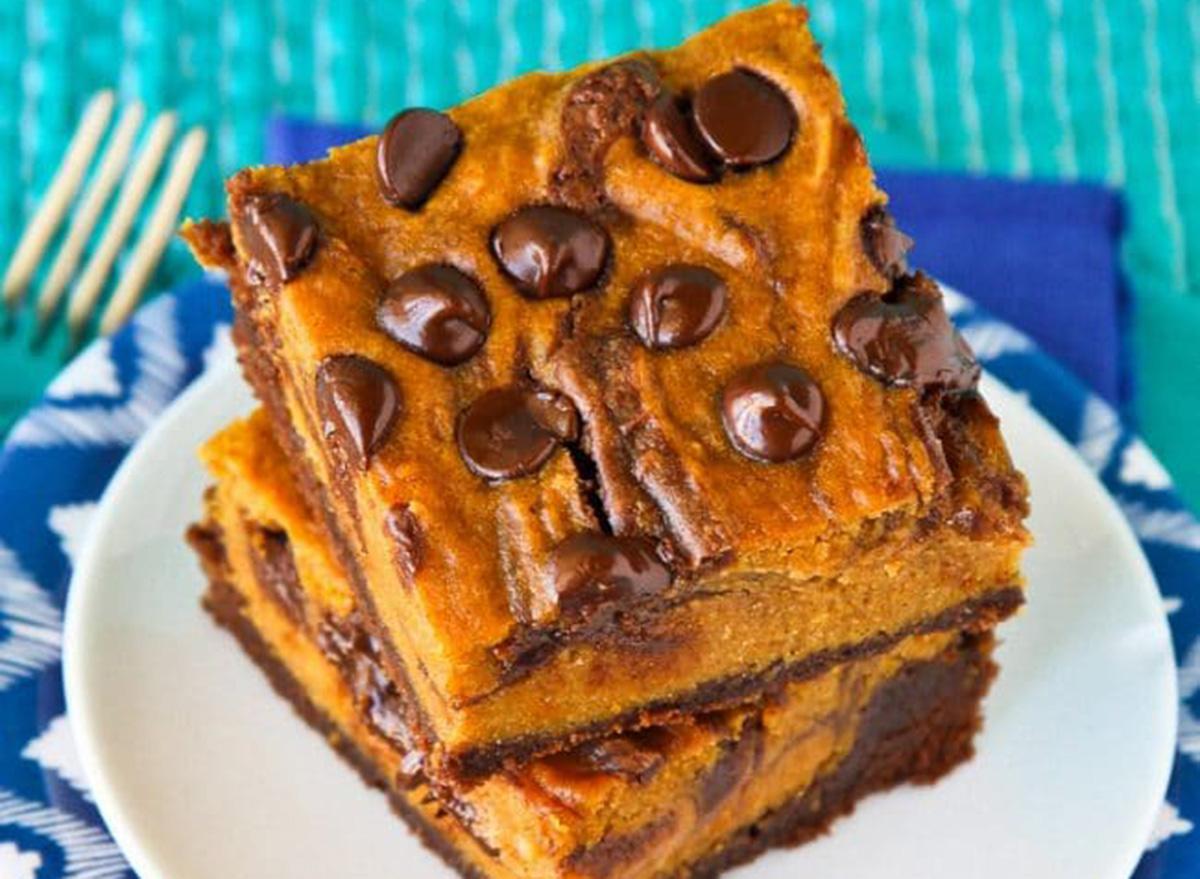 pumpkin brownies