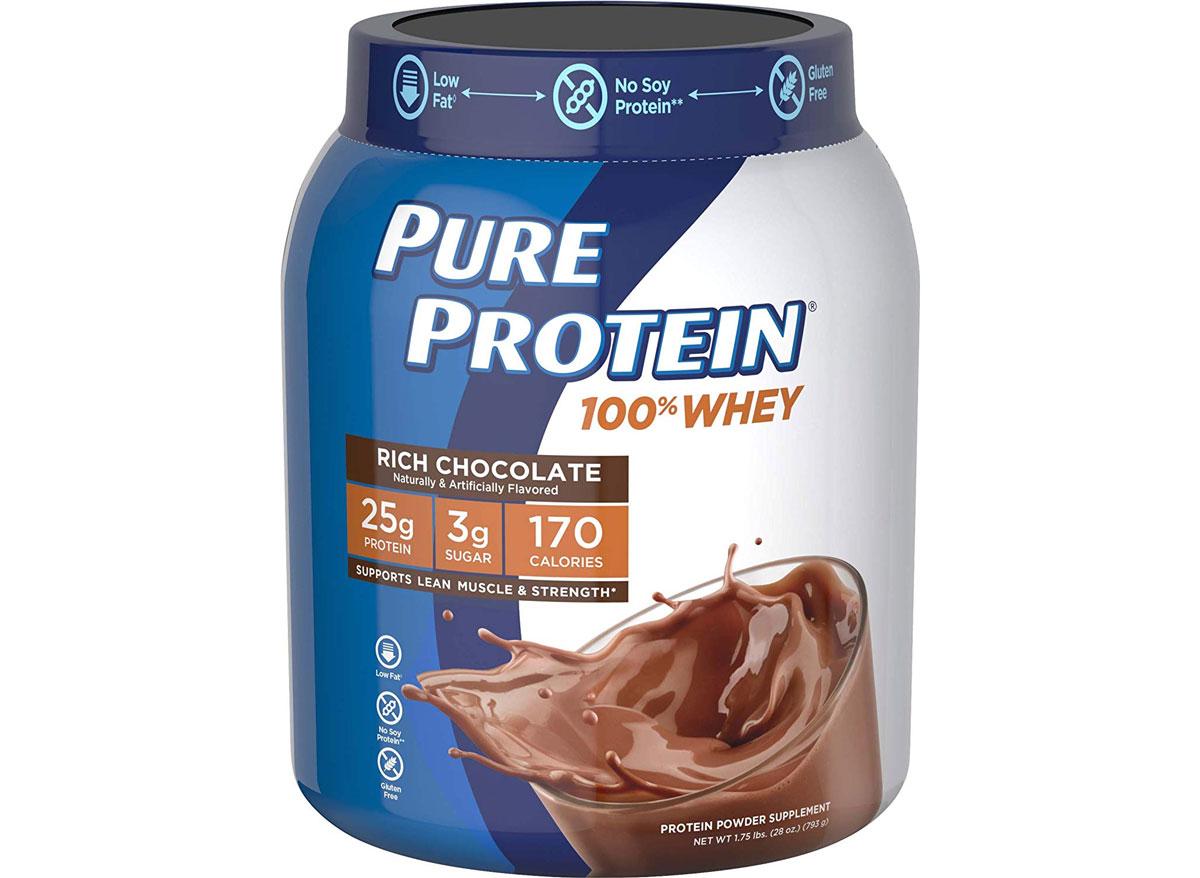 Pure protein powder whey chocolate flavor