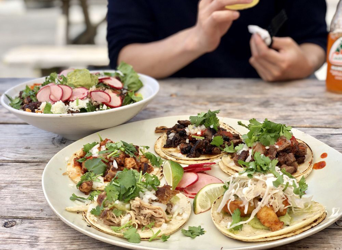 rhode island tallulah taqueria spread of tacos