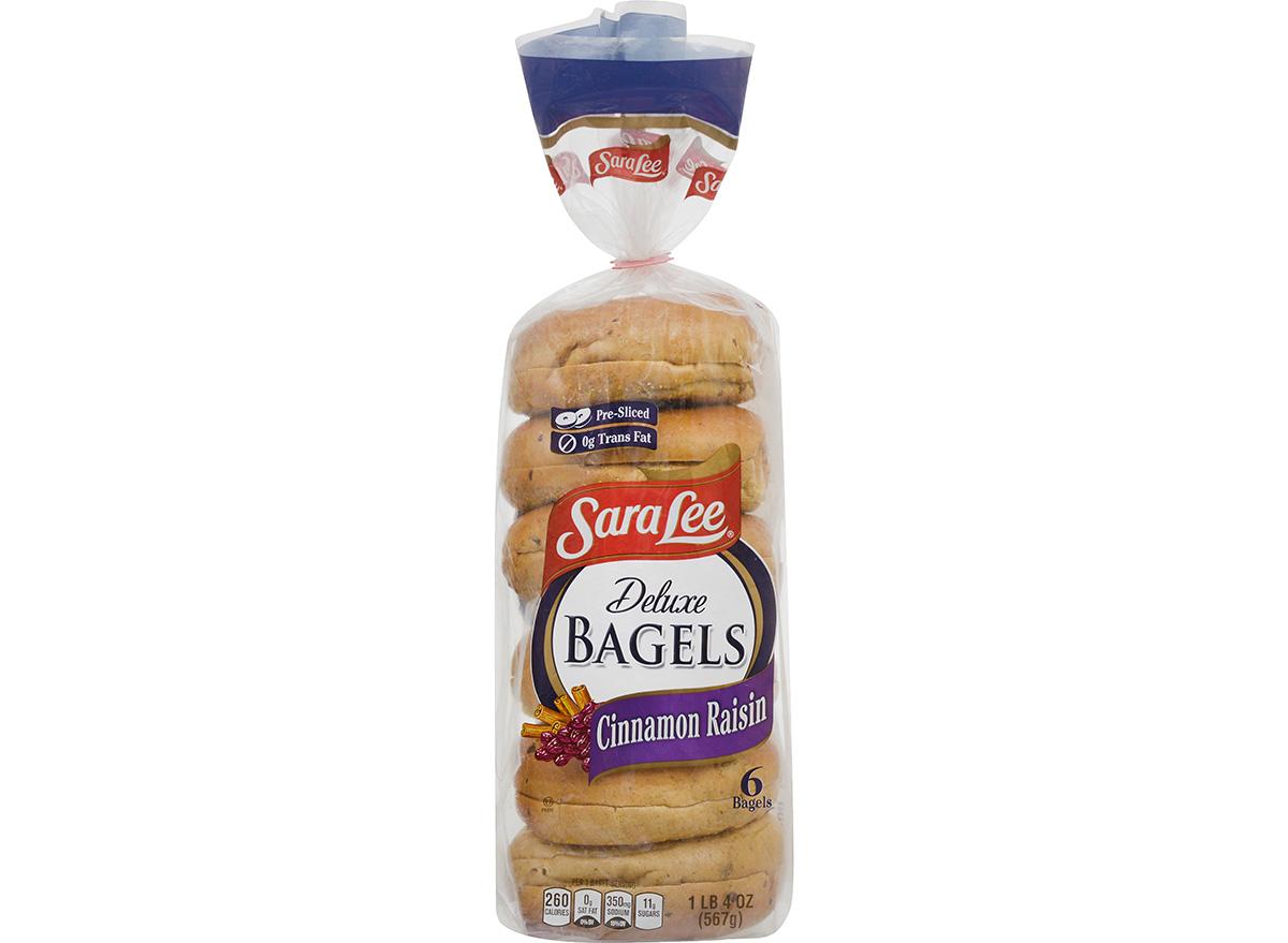 sara lee cinnamon raisin bagels in packaging