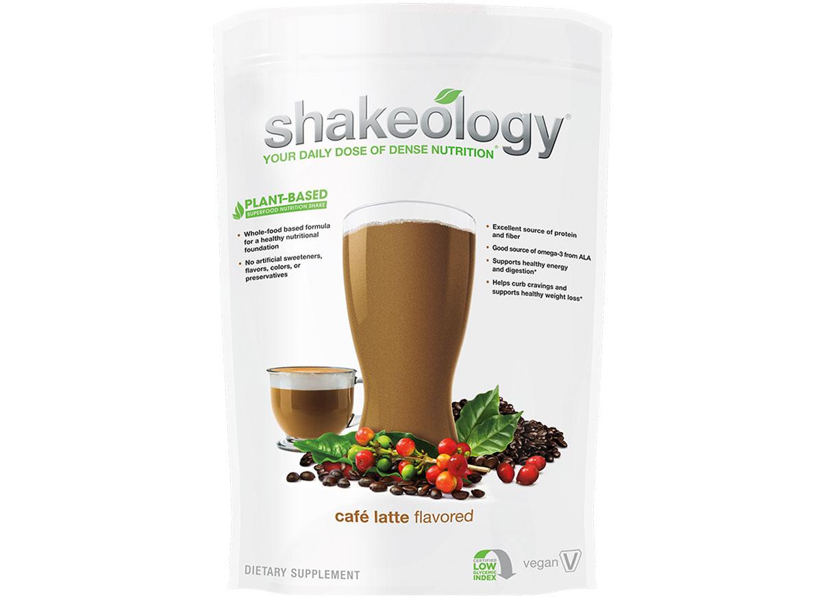 Shakeology cafe latte vegan protein powder