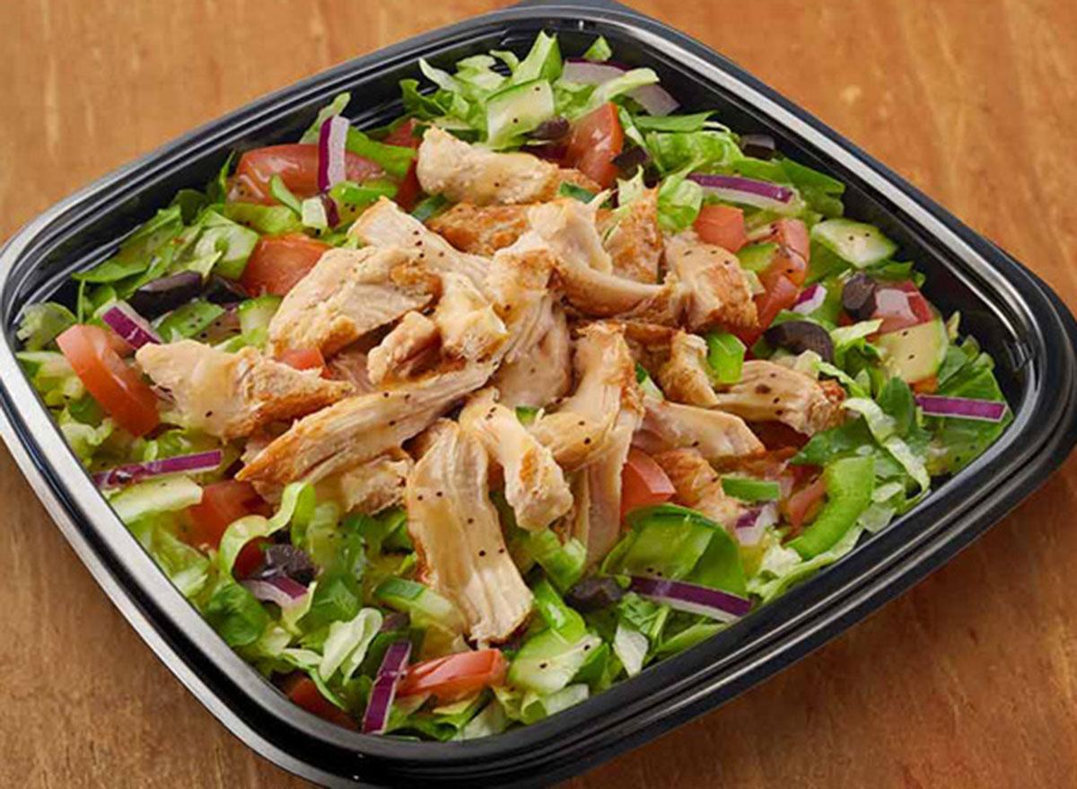 subway rotisserie chopped salad with subway vinaigrette