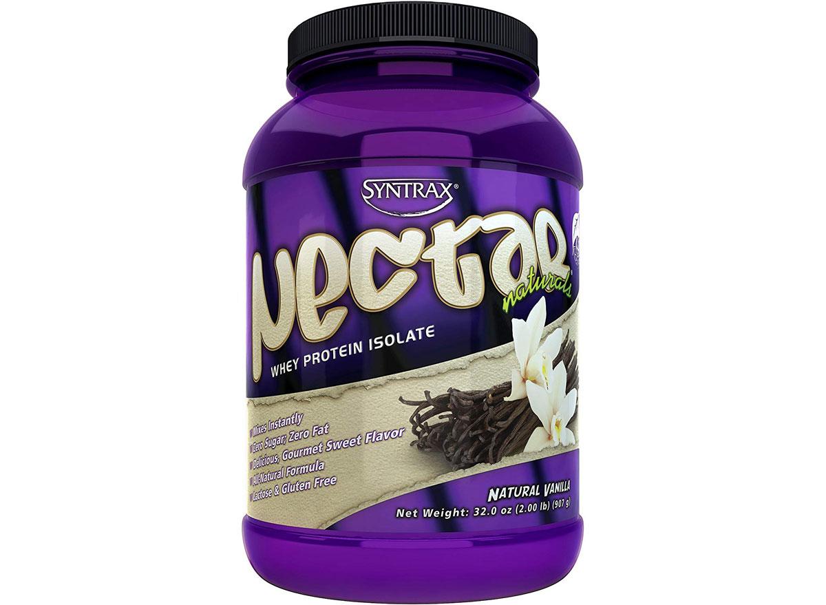 Syntrax nectar whey protein isolate powder vanilla