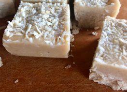 tahini coconut vanilla fudge