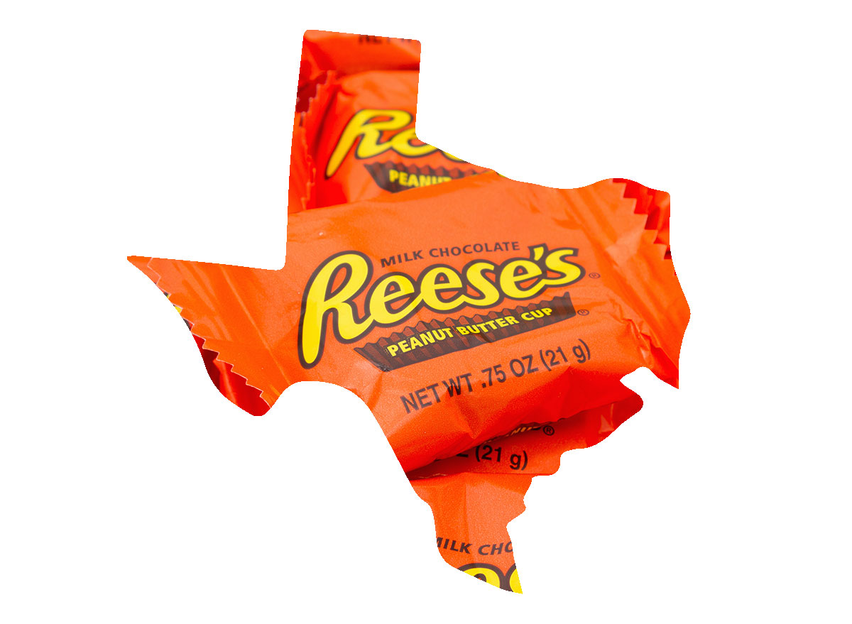 Texas' favorite candy bar is Reese's Cups