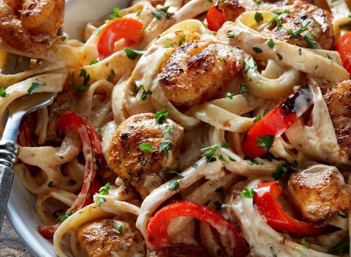 Cajun Shrimp and Chicken Pasta from TGI Fridays