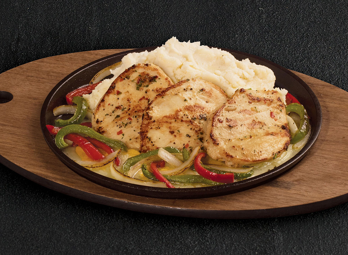 Chicken and Cheese with Peppers and Mashed Potatoes from TGI Fridays
