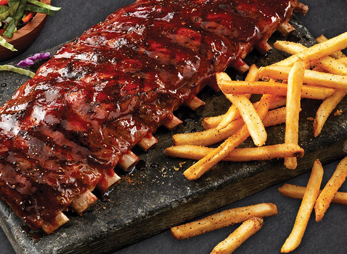 Full rack of ribs from TGI Fridays