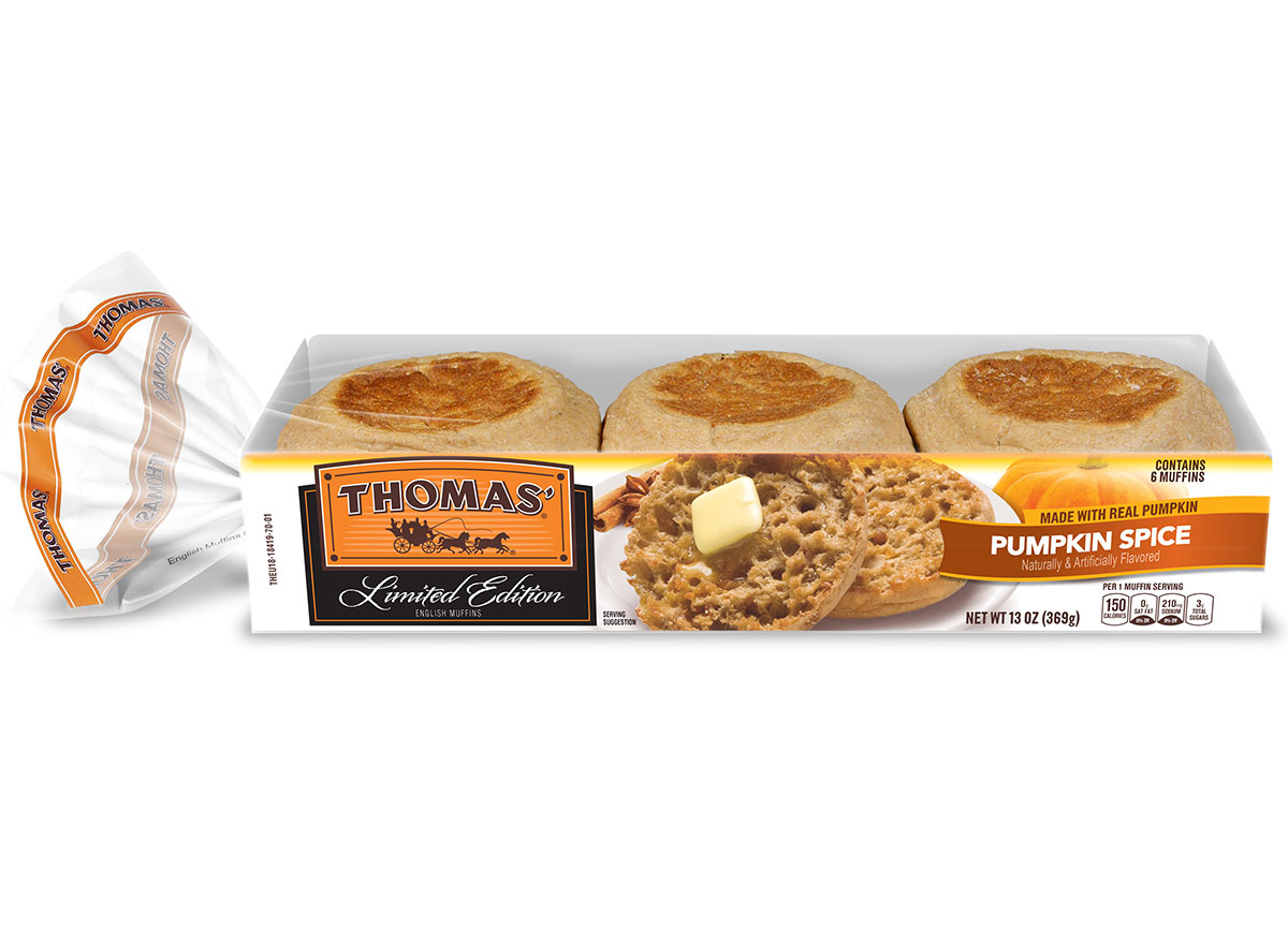 thomas pumpkin spice english muffins