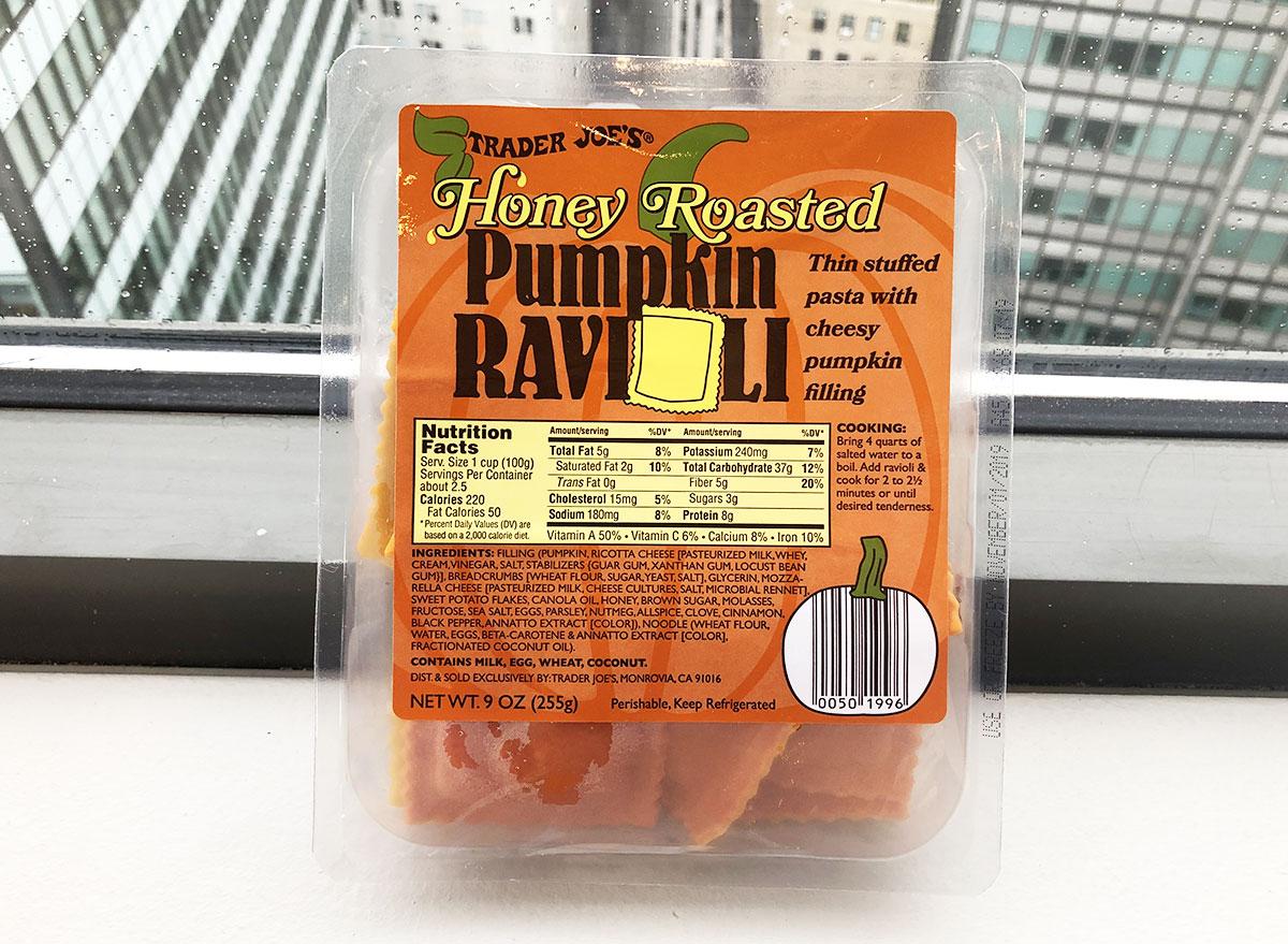 trader joes honey roasted pumpkin ravioli