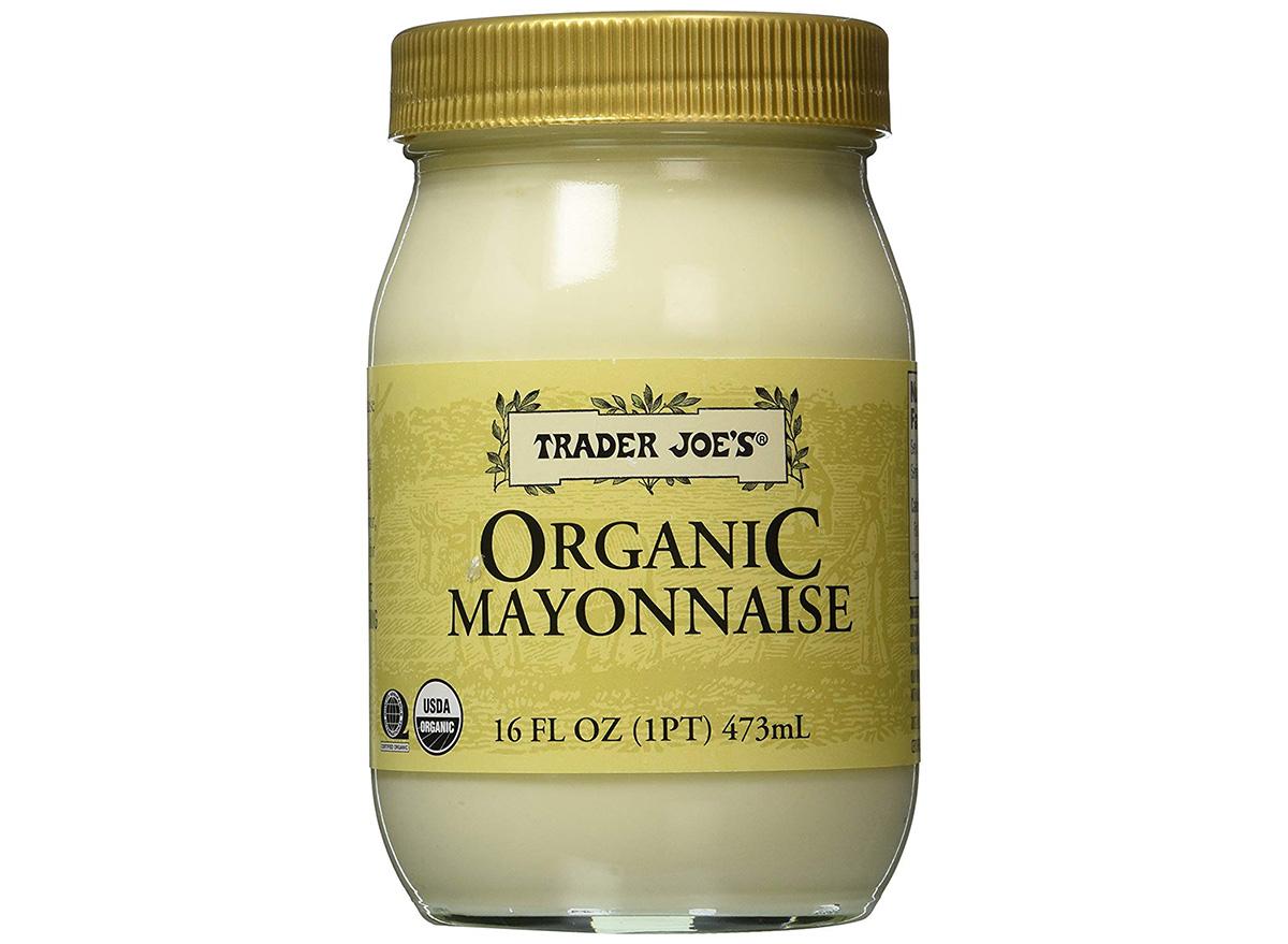 trader joes organic mayonnaise in jar